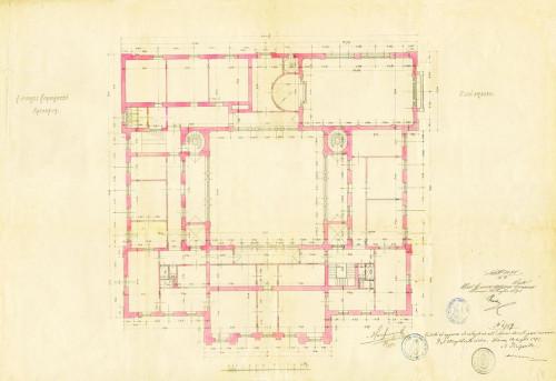 PPMHP 110856: Tlocrt drugog kata Guvernerove palače u Rijeci