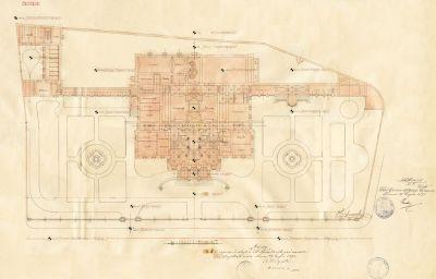PPMHP 110852: Situacija Guvernerove palače u Rijeci s tlocrtom prizemlja