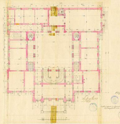 PPMHP 110855: Tlocrt prvog kata Guvernerove palače u Rijeci