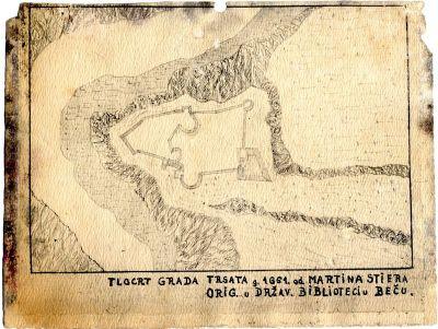 PPMHP 109444: Tlocrt grada Trsata iz 1661. godine