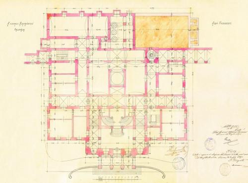 PPMHP 110854: Tlocrt prizemlja Guvernerove palače u Rijeci
