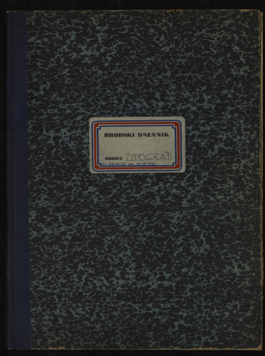 PPMHP 109073: Brodski dnevnik motornog broda Titograd