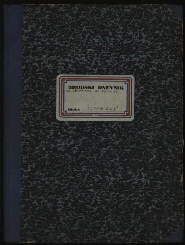 PPMHP 114423: Brodski dnevnik motornog broda Titograd