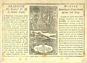 PPMHP 103103: Molitva Bogorodici od Svete Gore • Orazione Alla Beatis.ma V. M. di Monte Santo • Gebeith zu der Mutter Gottes auf dem Heil. Berge.