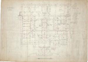 PPMHP 125162: Guvernerova palača u Rijeci Nacrt temelja • A Fiumei Kormanyzo Palotaja Alapozasi terv.