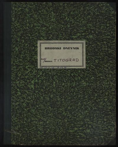 PPMHP 109077: Brodski dnevnik motornog broda Titograd