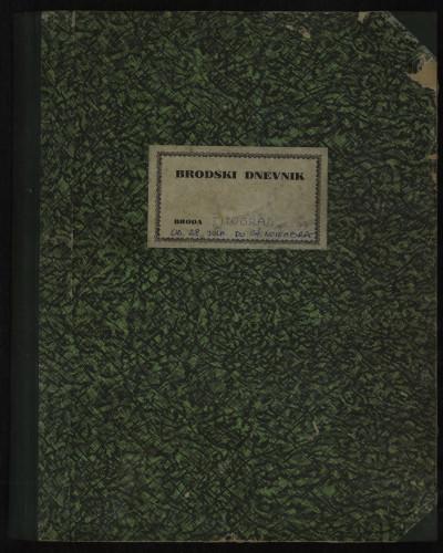 PPMHP 114431: Brodski dnevnik motornog broda Titograd