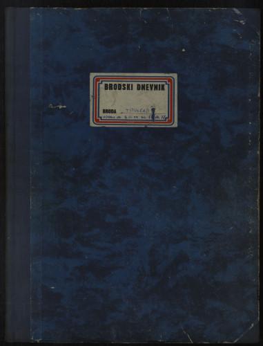 PPMHP 109079: Brodski dnevnik motornog broda Titograd