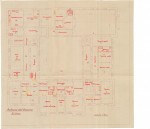 PPMHP 125158: Palazzo del Governo II piano • Prenamjena prostora na drugom katu Guvernerove palače