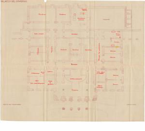 PPMHP 125119: Palazzo del Governo Pianta del pianoterra • Guvernerova palača Nacrt prizemlja