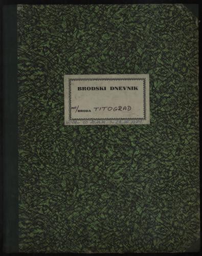 PPMHP 109080: Brodski dnevnik motornog broda Titograd
