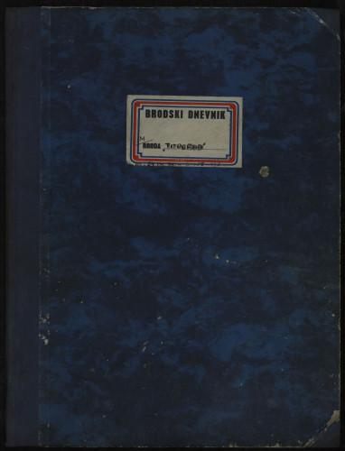PPMHP 109076: Brodski dnevnik motornog broda Titograd