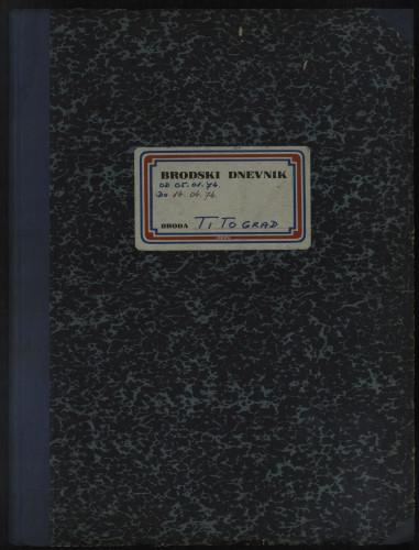 PPMHP 114424: Brodski dnevnik motornog broda Titograd