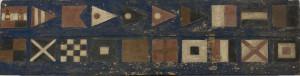 PPMHP 113875: Signalne zastavice na drvenoj ploči