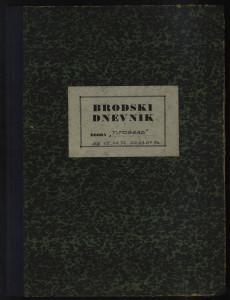 PPMHP 109067: Brodski dnevnik motornog broda Titograd