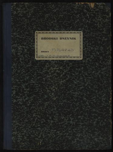 PPMHP 114425: Brodski dnevnik motornog broda Titograd