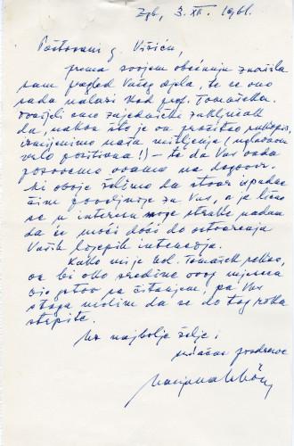 PPMHP 144990/1: Pismo Marjane Schön upućeno Vinku Višiću